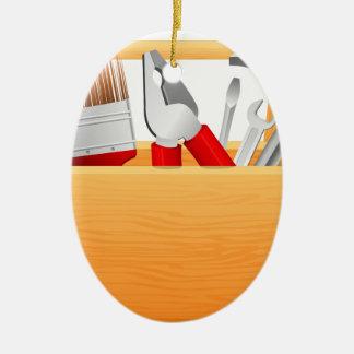 Ornement Ovale En Céramique Boîte à outils