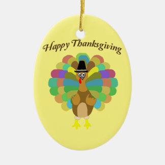 Ornement Ovale En Céramique Bon thanksgiving