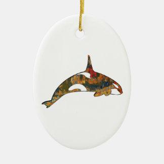 Ornement Ovale En Céramique Bonheur d'orque