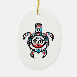 Ornement Ovale En Céramique Boussole tribale