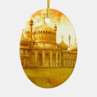 Ornement Ovale En Céramique Brighton Pavillion royal