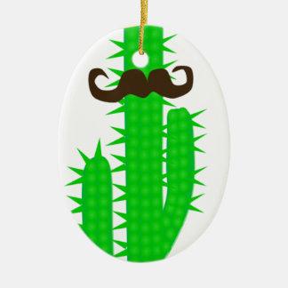 Ornement Ovale En Céramique cactus