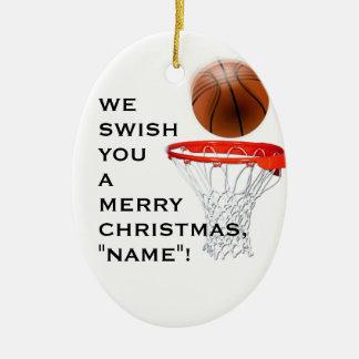 Ornement Ovale En Céramique cadeau personnalisé de basket-ball