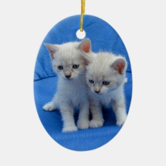 Ornement Ovale En Céramique Cadeaux de chat