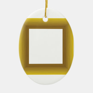 Ornement Ovale En Céramique cadre en bois