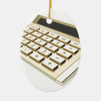 Ornement Ovale En Céramique Calculatrice d'or