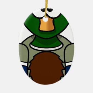 Ornement Ovale En Céramique canard