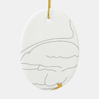 Ornement Ovale En Céramique canard #3