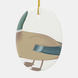 Ornement Ovale En Céramique canard #4