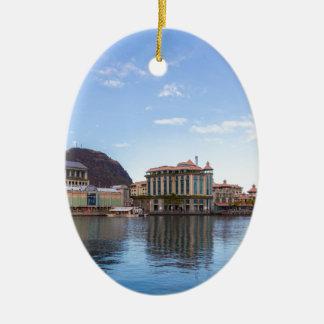 Ornement Ovale En Céramique capitale caudan de bord de mer de Port-Louis le de