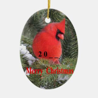 Ornement Ovale En Céramique cardinal