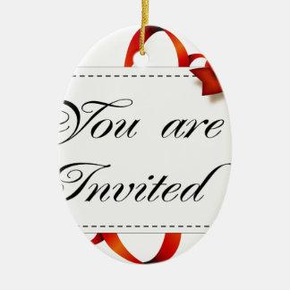 Ornement Ovale En Céramique Carte d'invitation >> vous êtes invités
