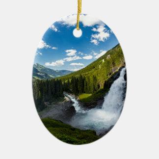 Ornement Ovale En Céramique cascade de krimml, Autriche
