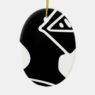 Ornement Ovale En Céramique Casque de chevalier