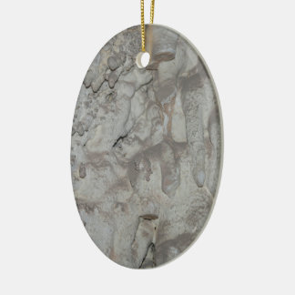 Ornement Ovale En Céramique Caverne grise