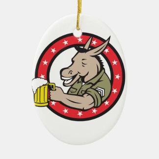Ornement Ovale En Céramique Cercle de buveur de bière d'âne rétro