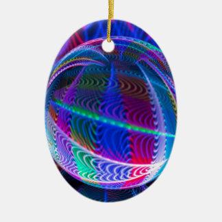 Ornement Ovale En Céramique Cercle de couleur