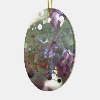 Ornement Ovale En Céramique Cercles de rosée