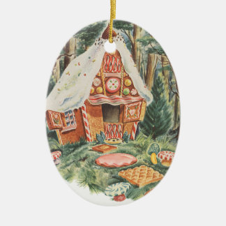 Ornement Ovale En Céramique Chambre vintage de sucrerie de conte de fées, de