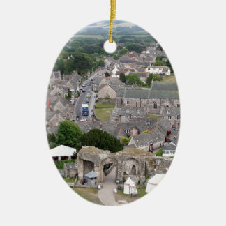 Ornement Ovale En Céramique Château de Corfe, Dorset, Angleterre