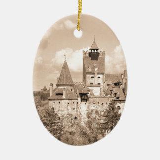 Ornement Ovale En Céramique Château de Dracula en Transylvanie, Roumanie