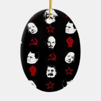 Ornement Ovale En Céramique Chefs communistes