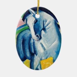 Ornement Ovale En Céramique Cheval bleu I par Franz Marc