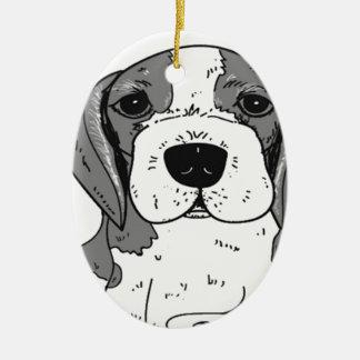 Ornement Ovale En Céramique Chien de beagle