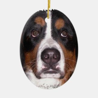 """Ornement Ovale En Céramique : Chien de grand chien"""" de chien"""" de montagne """"de"""