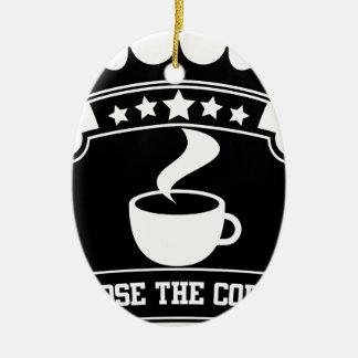 Ornement Ovale En Céramique choisissez le café