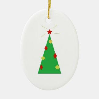 Ornement Ovale En Céramique Christmassy, oh arbre de Chrostmas