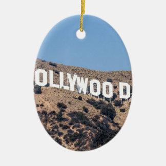 Ornement Ovale En Céramique Ciel de la Californie de montagnes de visibilité