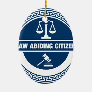 Ornement Ovale En Céramique Citoyen respectueux des lois