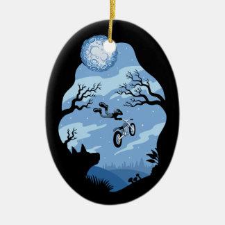 Ornement Ovale En Céramique Clair de lune Hangin