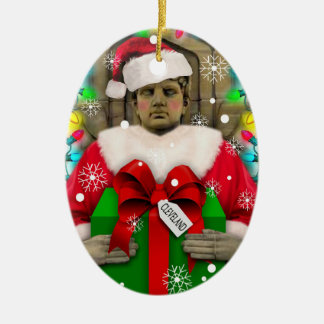 Ornement Ovale En Céramique Cleveland : Gardien d'ornement de Noël