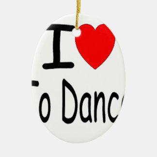 Ornement Ovale En Céramique coeur i pour danser b