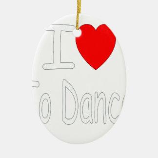 Ornement Ovale En Céramique coeur i pour danser W