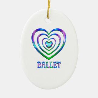 Ornement Ovale En Céramique Coeurs de ballet