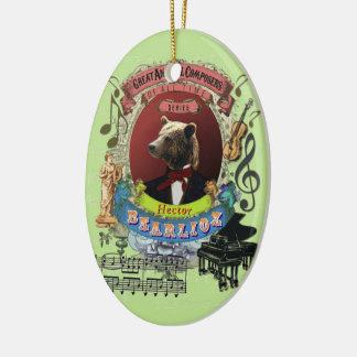 Ornement Ovale En Céramique Compositeur animal Berlioz d'ours de Hector