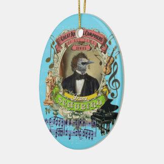 Ornement Ovale En Céramique Compositeur animal Schubert d'oiseau de Franz