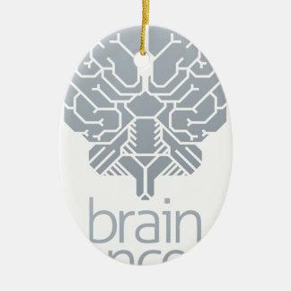 Ornement Ovale En Céramique Concept de cerveau