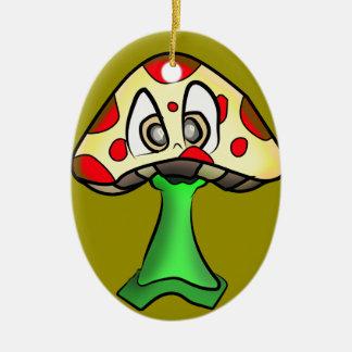 Ornement Ovale En Céramique Conception de tête de champignon
