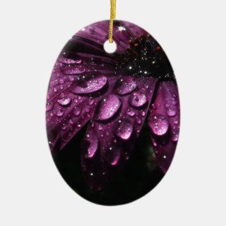 Ornement Ovale En Céramique conception florale d'art de baisses de pluie