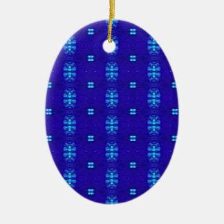 Ornement Ovale En Céramique Conception moderne chic chique de bleu royal