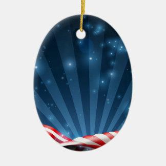 Ornement Ovale En Céramique Conception patriotique ou politique de drapeau