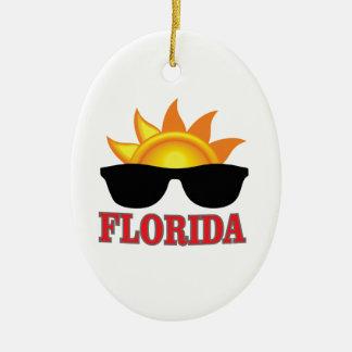 Ornement Ovale En Céramique Cool de la Floride