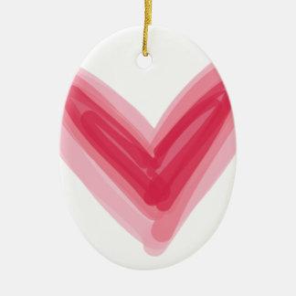 Ornement Ovale En Céramique Copie assez rose de coeur, bel amour Hea de