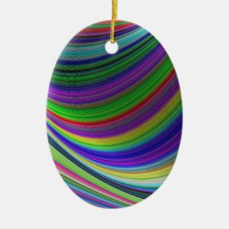 Ornement Ovale En Céramique Courbes de couleur
