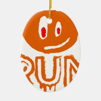 Ornement Ovale En Céramique Courez | peu de monstre de Halloween