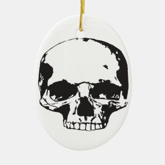 Ornement Ovale En Céramique Crâne
